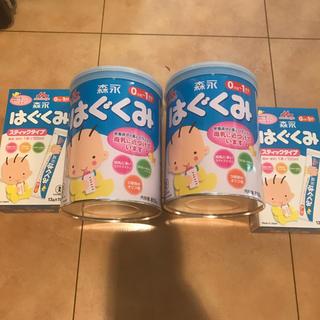 モリナガニュウギョウ(森永乳業)の未使用♦️粉ミルク❣️はぐくみ❣️大缶✖︎2+スティックタイプ10×2箱(その他)
