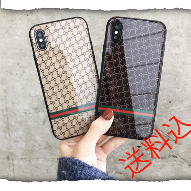 食品 サンプル スマホケース iphone8 、 モノグラム 柄 iPhone X XS スマホケース ブラック 黒色の通販 by kei's shop|ラクマ