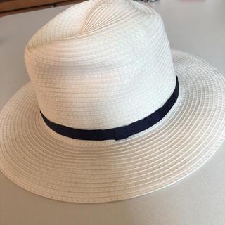 イング(INGNI)のINGNI ホワイト麦わら帽子(麦わら帽子/ストローハット)