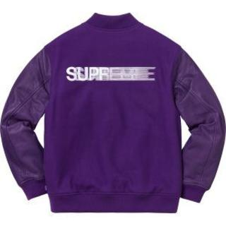 シュプリーム(Supreme)のSupreme Motion Logo Varsity Jacket 紫 M(スタジャン)