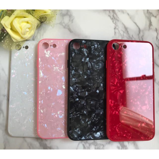 新作&人気!iPhone7/iPhone8ガラスシェル 大理石風 カバーの通販 by yukino'shop|ラクマ