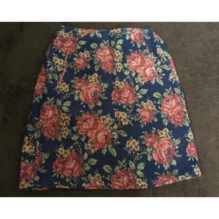 スズタン(suzutan)の✩ 花柄スカート ✩(ひざ丈スカート)