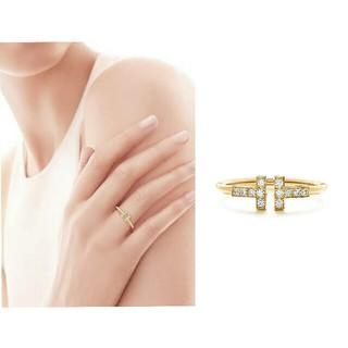 ティファニー(Tiffany & Co.)の三連休限定値下☆ティファニー Tワイヤー ダイヤリング YG 48(リング(指輪))