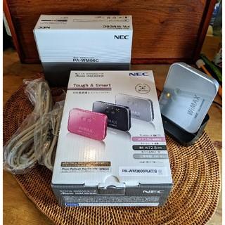 エヌイーシー(NEC)のモバイル WiMAX ルータ NEC Aterm WM3600R クレードル付き(PC周辺機器)