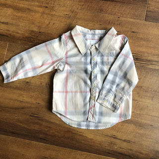 バーバリー(BURBERRY)のBURBERRY チェックシャツ 18M (シャツ/カットソー)