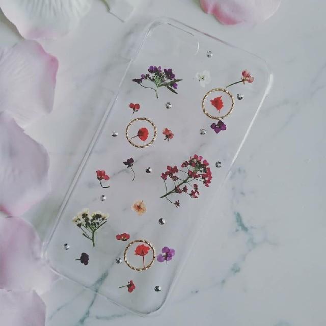 iPhoneケース かすみ草とアリッサムの押し花の通販 by RSI's shop|ラクマ