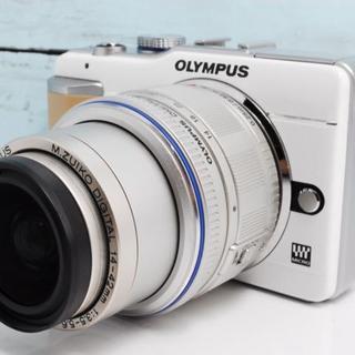 オリンパス(OLYMPUS)の初心者にもおすすめ♪ オリンパス OLYMPUS E-PL1 ホワイト(ミラーレス一眼)