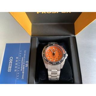 セイコー(SEIKO)のセイコー プロスペックス SBDA005 オレンジ 7S25 サムライ チタン(腕時計(アナログ))