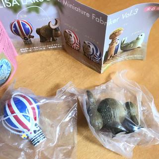 リサラーソン(Lisa Larson)の未開封未使用新品☆2点セット リサラーソン ガチャ 海洋堂 バッファロー&気球(その他)