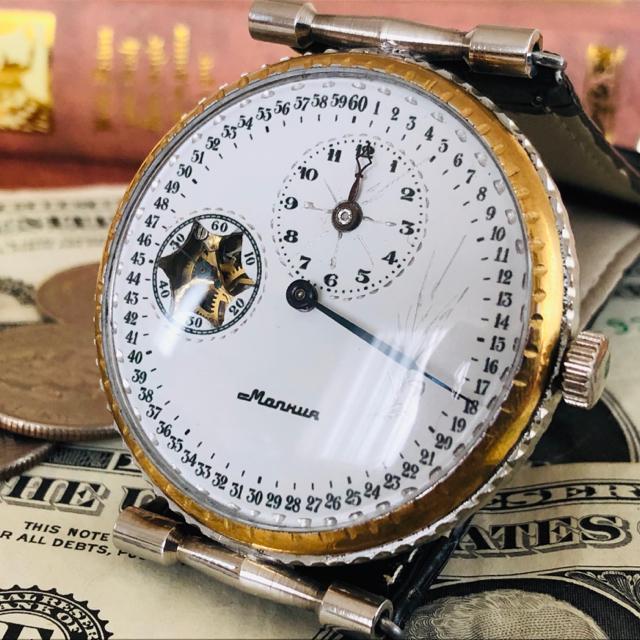 burege - Molnija(Молния) - ■モルニヤ レギュレータースケルトン■アンティーク手巻きメンズ腕時計の通販 by のりたま's shop|モルニヤならラクマ