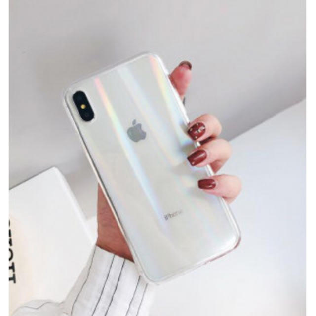 iPhone7/8  クリア  オーロラホログラム  強化ガラスの通販 by まるちゃん's shop|ラクマ