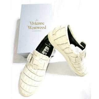 ヴィヴィアンウエストウッド(Vivienne Westwood)のVivienne Westwood MAN/クロコダイルスリッポン スニーカー(スニーカー)
