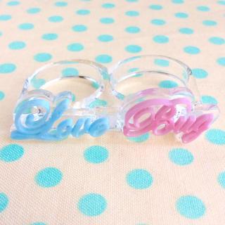 ビームス(BEAMS)の美品★BEAMS購入 LOTUS PINK ダブルリング 約13号 指輪(リング(指輪))