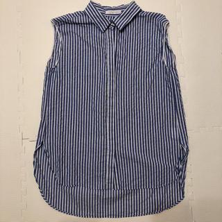 プラージュ(Plage)のPlage ストライプ ノースリーブ シャツ(シャツ/ブラウス(半袖/袖なし))