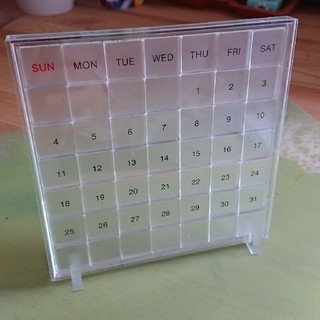 ムジルシリョウヒン(MUJI (無印良品))の無印良品 アクリル 万年カレンダー(カレンダー/スケジュール)