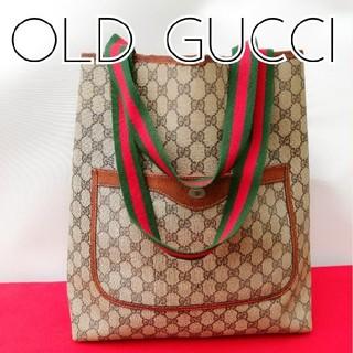 22eb9882c468 グッチ(Gucci)の希少レア! オールドグッチ シェリーライン ビンテージトートバッグ 正規