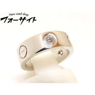 カルティエ(Cartier)の6号 (46)  カルティエ■K18 WG ハーフダイヤ ラブリング 指輪(リング(指輪))