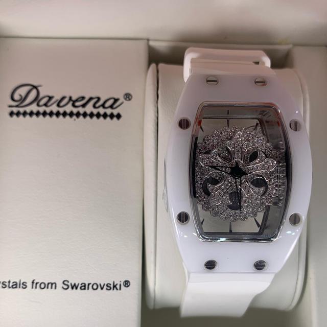 時計 ミル | シルバー×ホワイト   文字盤回転式 DAVENA の通販 by Eighth gAte|ラクマ