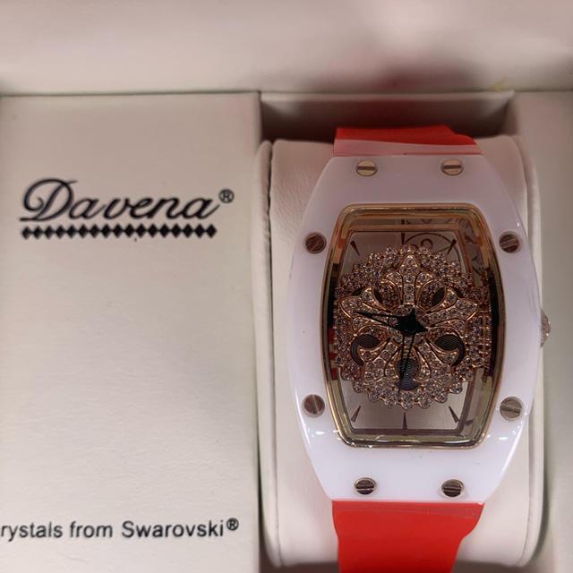 ピンクゴールド×レッド 文字盤回転式 DAVENA の通販 by Eighth gAte|ラクマ
