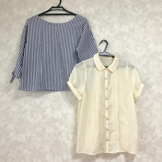 ジーユー(GU)のジーユー ブラウス 二点(シャツ/ブラウス(半袖/袖なし))