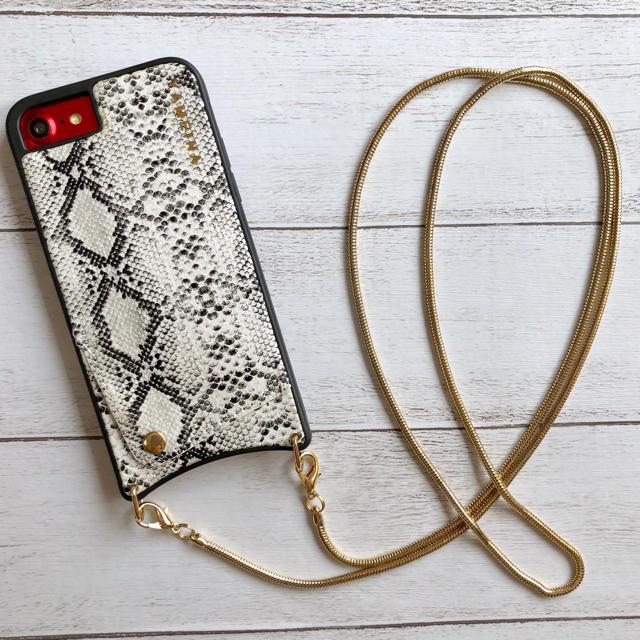 iphone7 ケース バンド - パイソン柄  iPhoneケースの通販 by みるきー's shop|ラクマ