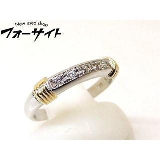 ディオール(Dior)の6号 ディオール■K18 YG Pt950 コンビ 5P ダイヤ リング 指輪(リング(指輪))