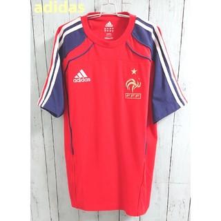 アディダス(adidas)のadidas アディダス フランス FFF サッカ ー Tシャツ ゲームシャツ(Tシャツ/カットソー(半袖/袖なし))
