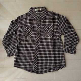 ニシマツヤ(西松屋)の長袖 ボタン シャツ ネルシャツ エルフィンドール 西松屋  110(ブラウス)