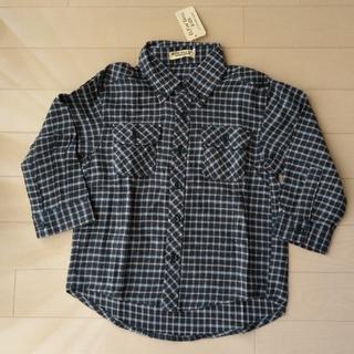 ニシマツヤ(西松屋)の長袖 ボタン シャツ ネルシャツ エルフィンドール 西松屋 100 (ブラウス)