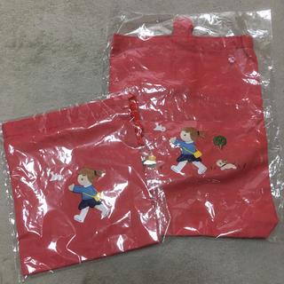 ファミリア(familiar)の新品 ファミリア 上履き袋と巾着のセット 女の子(シューズバッグ)
