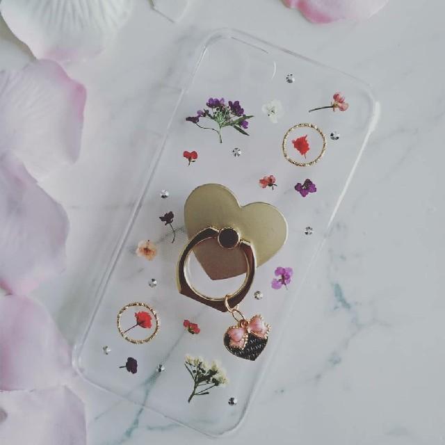 iPhoneケース ハンドメイド かすみ草とアリッサムの押し花の通販 by RSI's shop|ラクマ