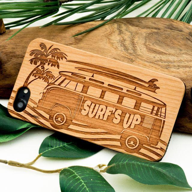 木製ケース ウッドケース SURF'S UP(名入れ可+700円)036の通販 by wooday tokyo|ラクマ