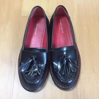ナノユニバース(nano・universe)のSENTORE AMARANTO 未使用 ブラック サイズ37(ローファー/革靴)