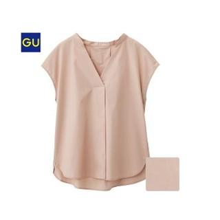 ジーユー(GU)のスキッパーシャツ ピンク XL(シャツ/ブラウス(半袖/袖なし))