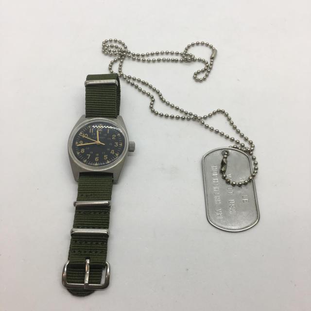 ミリタリーウオッチ 認識票ネックレスの通販 by 床屋の息子's shop|ラクマ