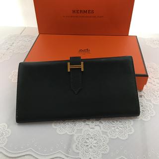 20a12e739fca エルメス(Hermes)の美品エルメス ベアンクラシックボックスカーフ 2つ折り財布グリーン