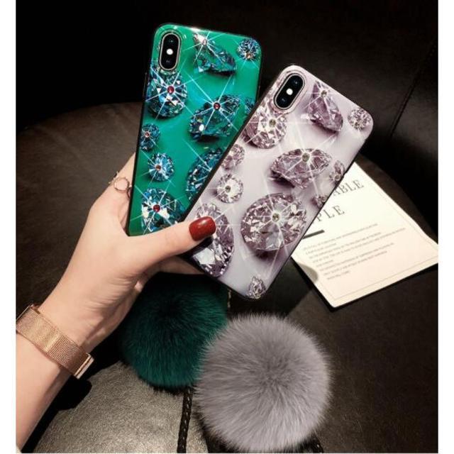 iphone x ケース 雪 / かわいい ダイヤモンド 柄 ★ iPhone スマホケース カバーの通販 by chouchou22's shop|ラクマ
