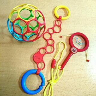 アンパンマン(アンパンマン)のラングス☆オーボール&オーリンクセット☆赤ちゃんのおもちゃおまけ付き(ボール)