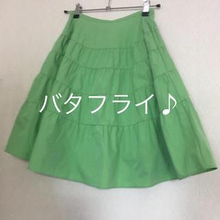 デイシー(deicy)のDEICY★スカート★グリーン★サイズ0(ひざ丈スカート)