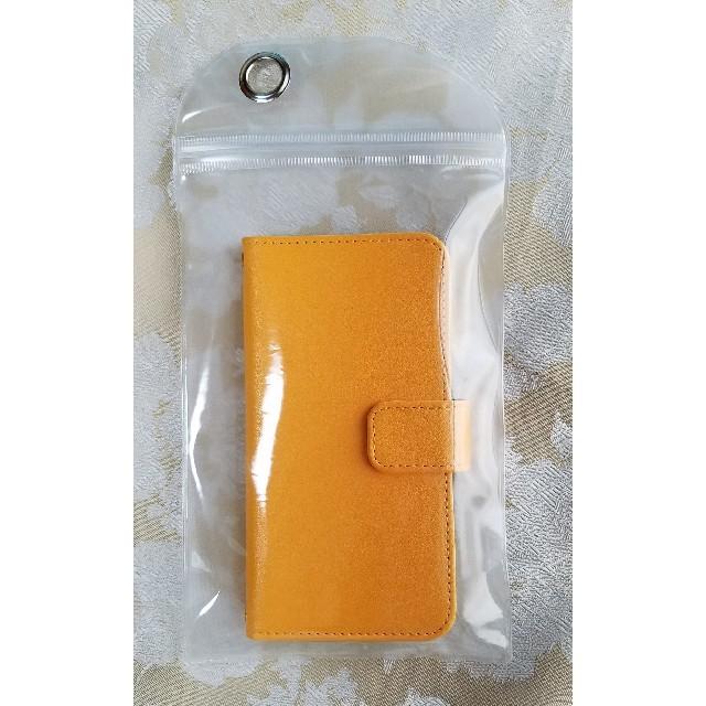 iphone x ケース 砂 、 スマホケース iPhoneケース 手帳型ケース オレンジの通販 by れいら|ラクマ