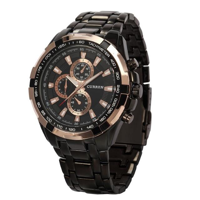 売れてます☆ウォッチステンレススチールクォーツ 腕時計(ブラックローズゴールド)の通販 by ノリ's shop|ラクマ