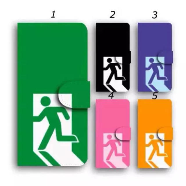 iphone x ケース カラビナ | 非常口 スマホケース 手帳型ケース カバー 送料無料 面白い デザインの通販 by ララ 's shop|ラクマ