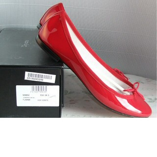 レペット(repetto)のレペット*定番パテントバレエ赤*38.5(ローファー/革靴)
