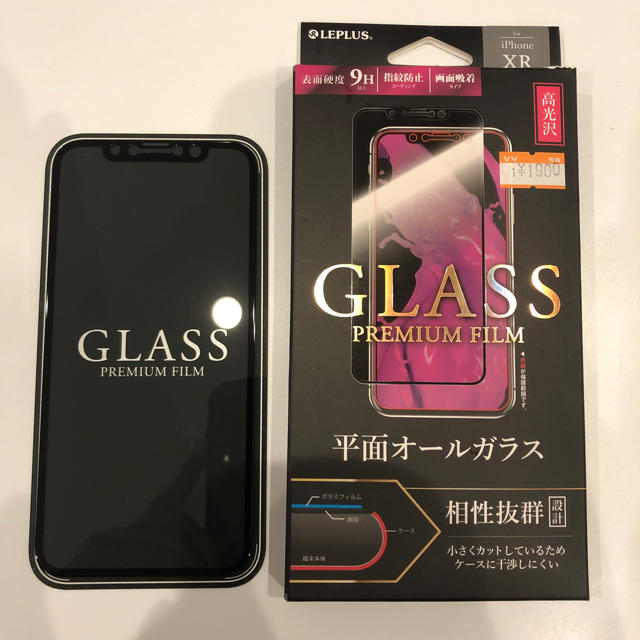iphonexsmax ケース ウッド 、 GLASS PREMIUM FILM. iPhone XRの通販 by a8087's shop|ラクマ