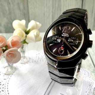 ヴィヴィアンウエストウッド(Vivienne Westwood)の【動作OK】 vivienne アーマークロノグラフ ブラック 腕時計(腕時計(アナログ))