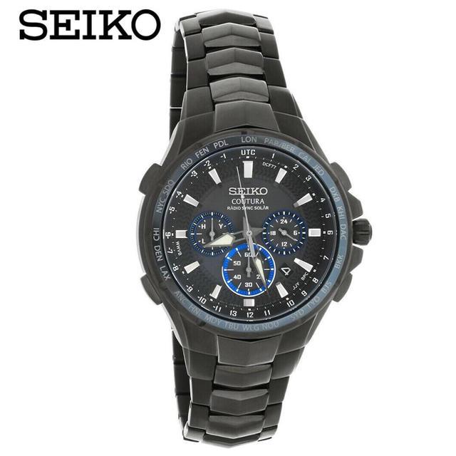 SEIKO - ◆上級品 クロノ◆ SEIKO セイコー コーチュラ ブラック  1本入荷の通販 by MM OUTDOOR|セイコーならラクマ