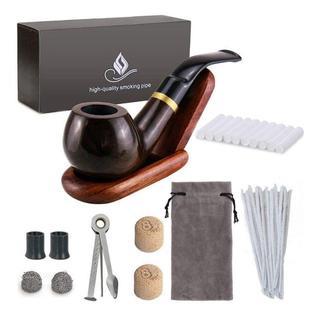 Joyoldelf 喫煙具セット パイプ 木製 スタンド フィルター(タバコグッズ)