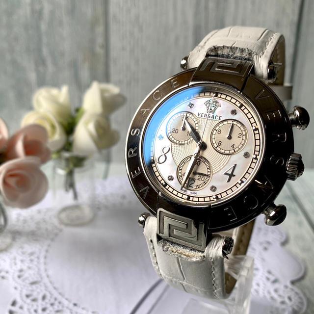 セイコー 腕時計 電波 | Gianni Versace - 【希少】 VERSACE ヴェルサーチ 腕時計 メデューサ  6P クロノグラフの通販 by soga's shop|ジャンニヴェルサーチならラクマ