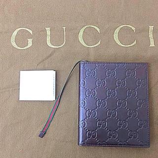 グッチ(Gucci)の鑑定済み 正規品 GUCCI グッチ メモ帳 展示品未使用 ダークブラウン(手帳)