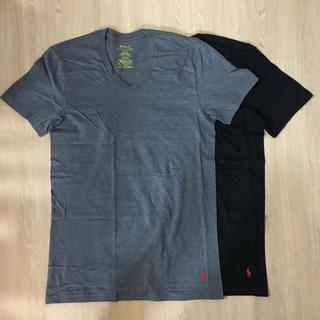 ラルフローレン(Ralph Lauren)のラルフローレン Vネック Tシャツ ブラック×ダークグレー(Tシャツ/カットソー(半袖/袖なし))
